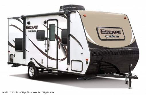 2017-5-KZ-RV-Escape-E191BH-Travel-Trailer-Exterior-Front-3-4-Door-Print_258e51122173a7